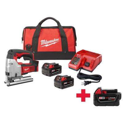 M18 18-Volt Lithium-Ion Cordless Jig Saw Kit W/ Free M18 5.0Ah Battery