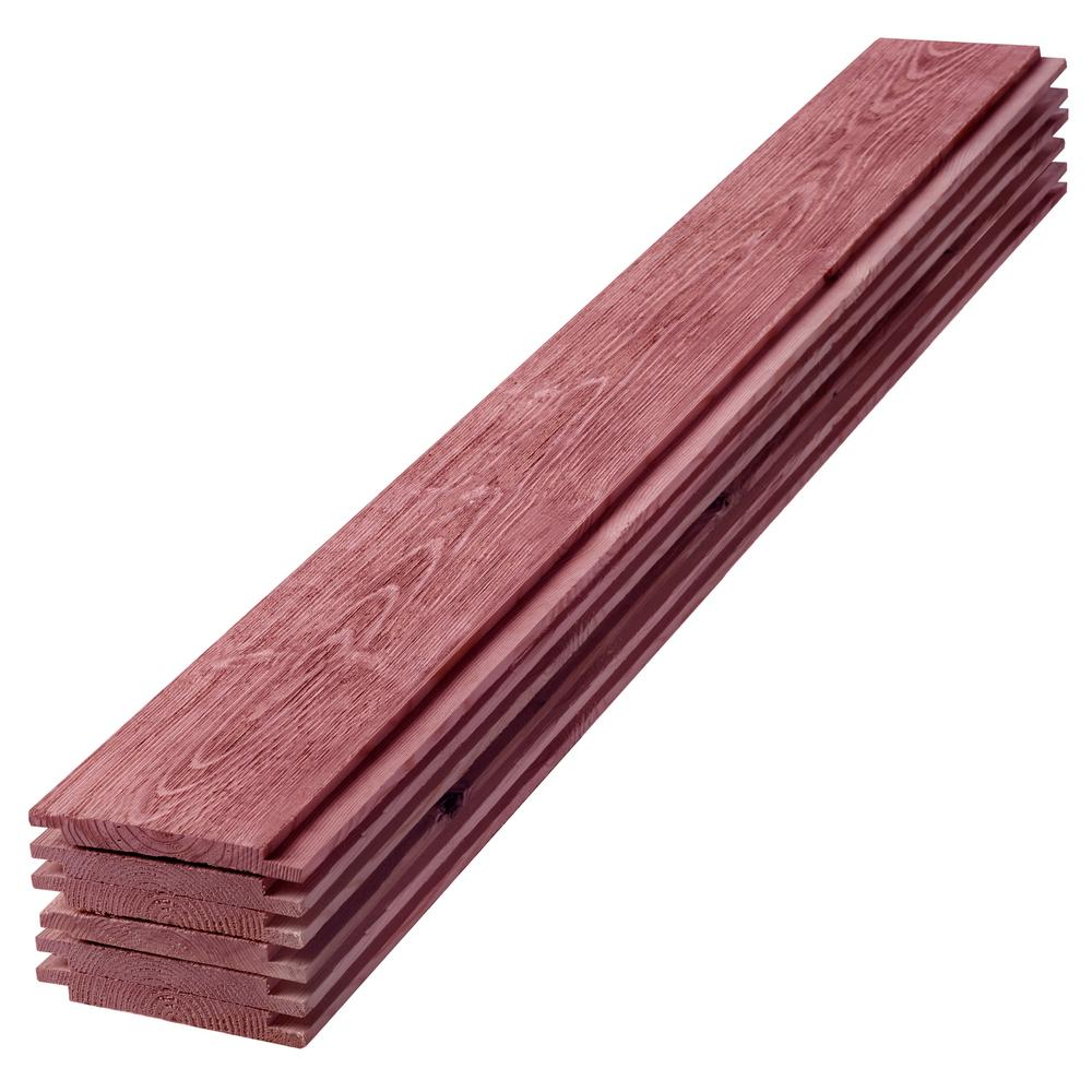 1 in. x 6 in. x 4 ft. Barn Wood Red