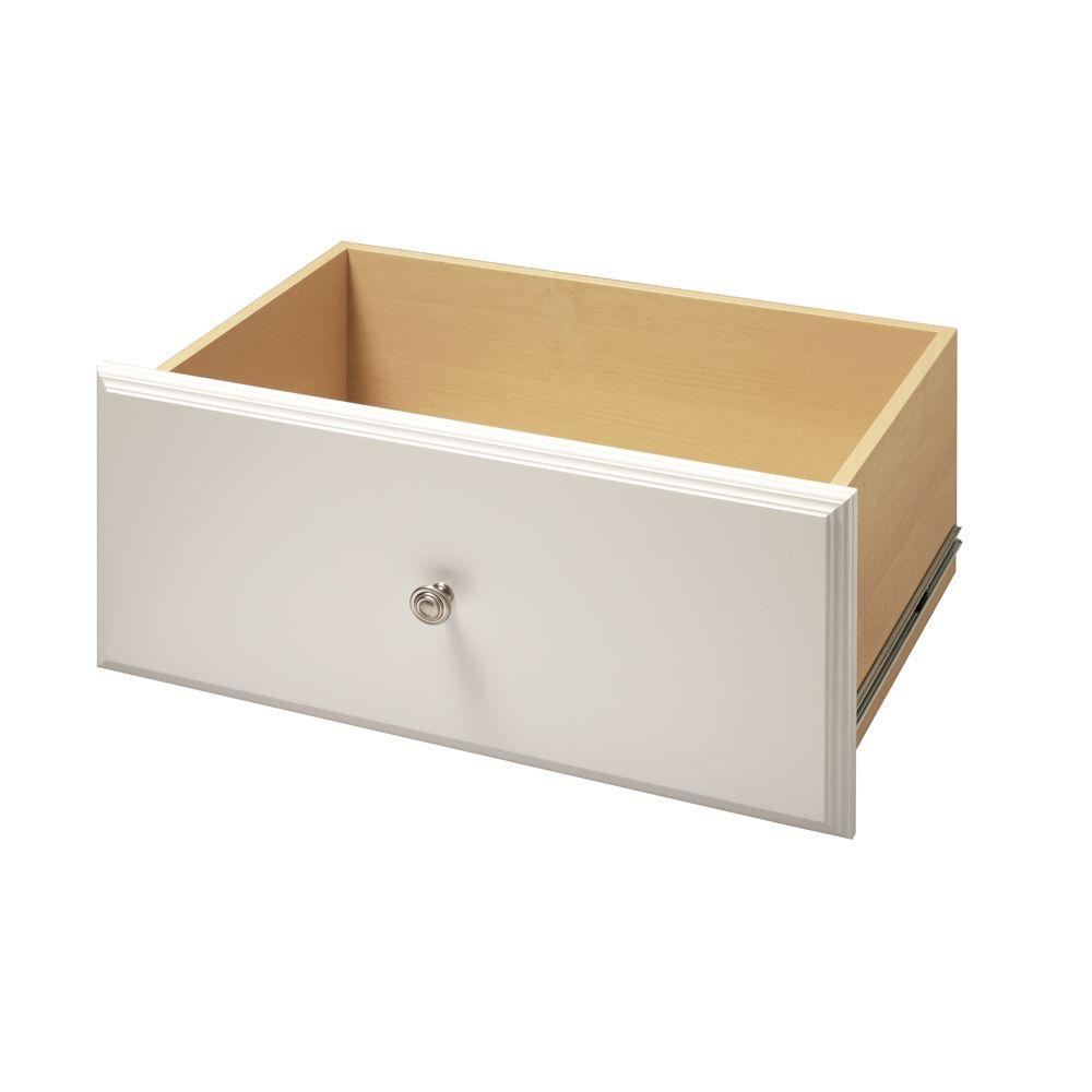 Martha Stewart Living 24 in. x 12 in. Classic White Deluxe Wood Drawer Kit