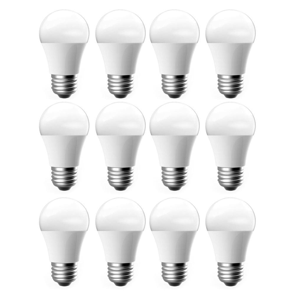 12-Pack EcoSmart 60-Watt Equivalent A15 Dimmable LED Light Bulb