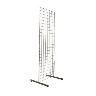 18 in. H x 24 in. L Black T-Shaped Leg for Freestanding Gridwall Panel (Pack of 12)