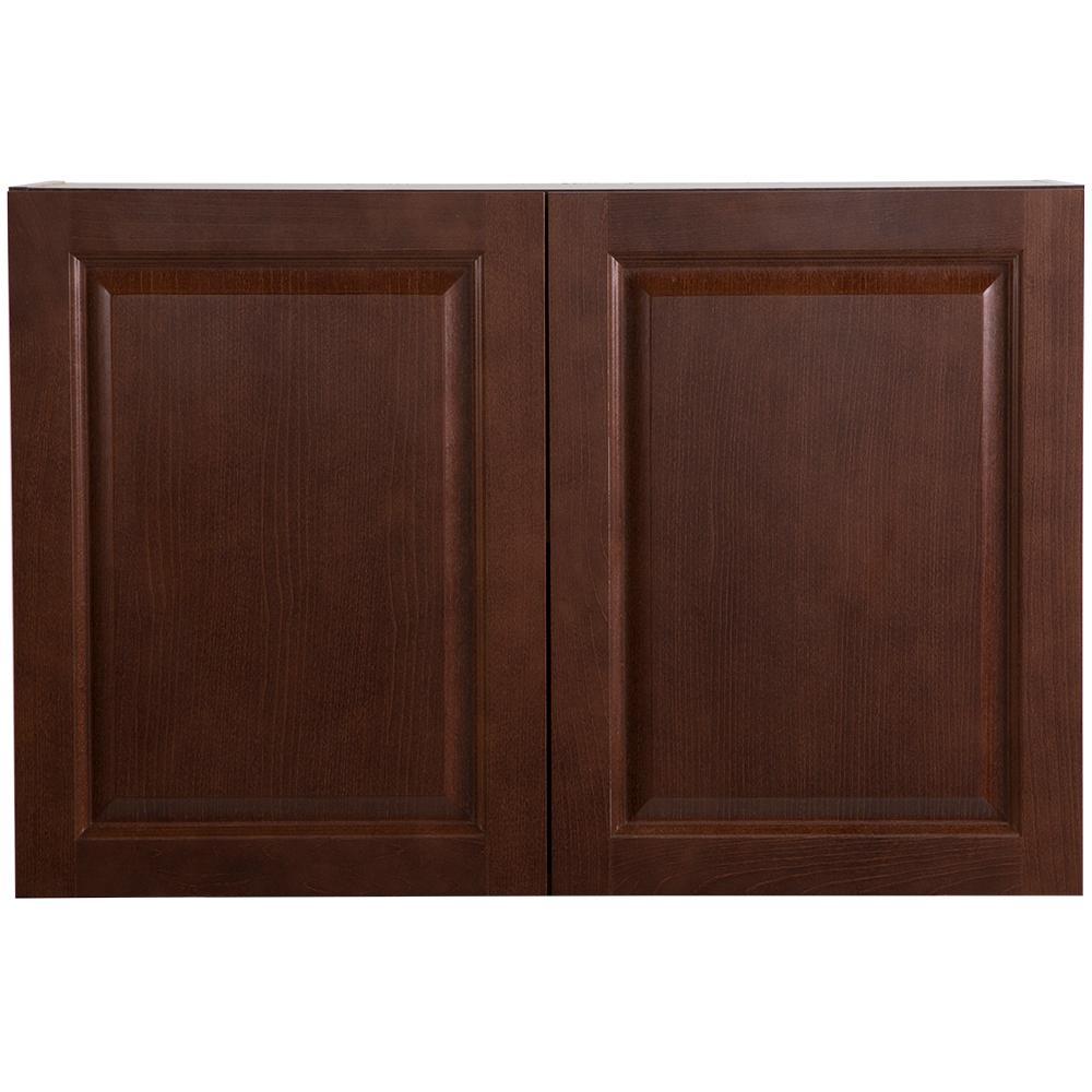Hampton Bay Benton Embled 36x24x12 6 In Wall Cabinet Amber