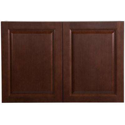 Benton Assembled 36x24x12.6 in. Wall Cabinet in Amber