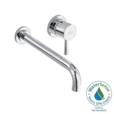 Serin Single Handle Wall Mount Bathroom Faucet With Valve Body And Grid  Drain In Polished