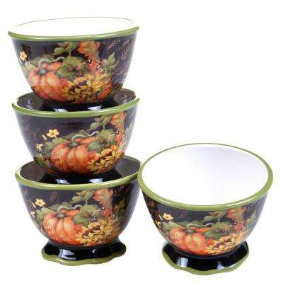 Botanical Harvest Ice Cream and Cereal Bowl (Set of 4)