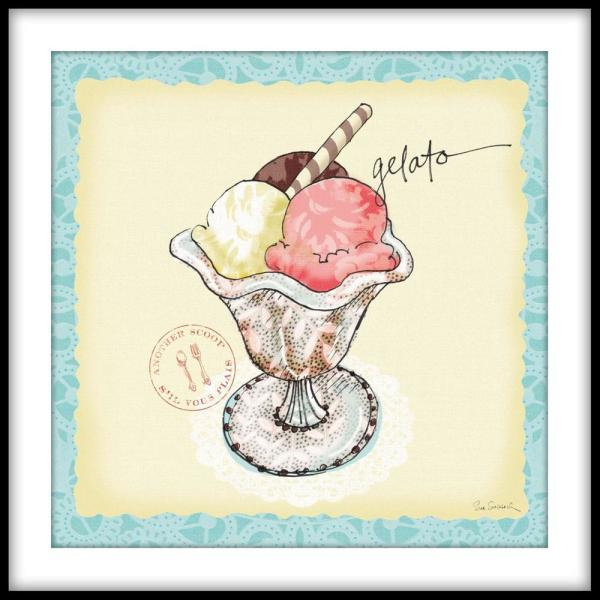 """PTM Images 13.75 in. x 13.75 in. """"Chefs Market I"""" Framed Wall Art"""