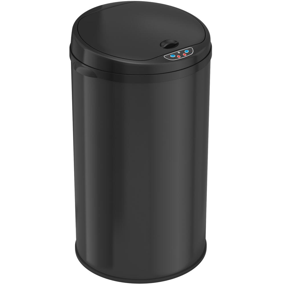 ITouchless 8 Gal. Matte Black Touchless Round Motion