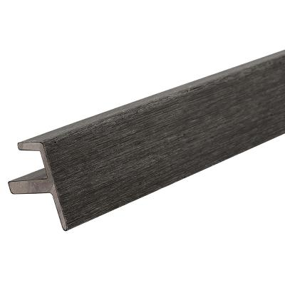 All Weather System 2.2 in. x 2.2 in. x 8 ft. Composite Siding End Trim in Hawaiian Charcoal Board