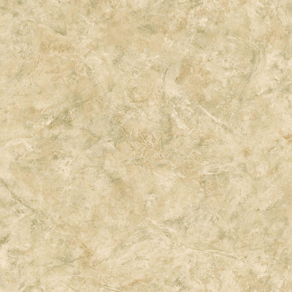 The Wallpaper Company 56 sq. ft. Beige Marble Wallpaper