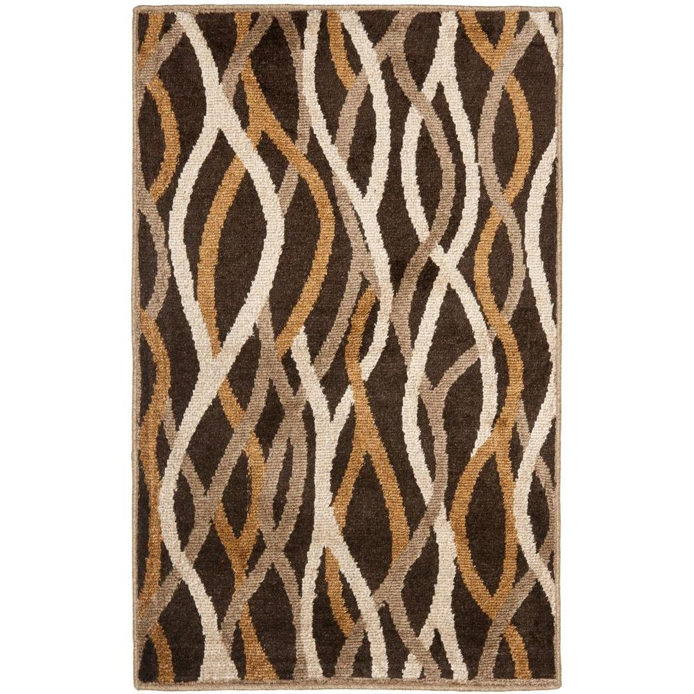 Safavieh Kashmir Brown/Multi 3 ft. x 5 ft. Area Rug