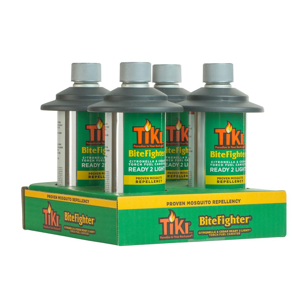 Tiki 12 Oz Ready 2 Light Bitefighter Torch Fuel 4 Pack