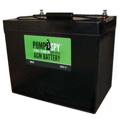 12 VDC 75 Ah Deep Cycle AGM Battery