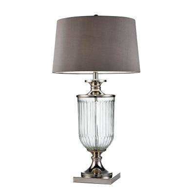 32.5 in. Amelia Clear Glass Table Lamp