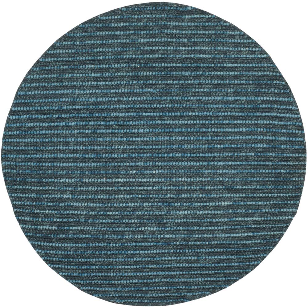 Bohemian Dark Blue/Multi 6 ft. x 6 ft. Round Area Rug