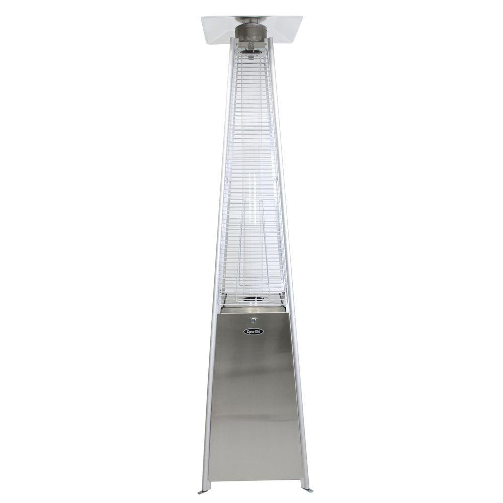42,000 BTU Stainless Steel Pyramid Flame Gas Patio Heater