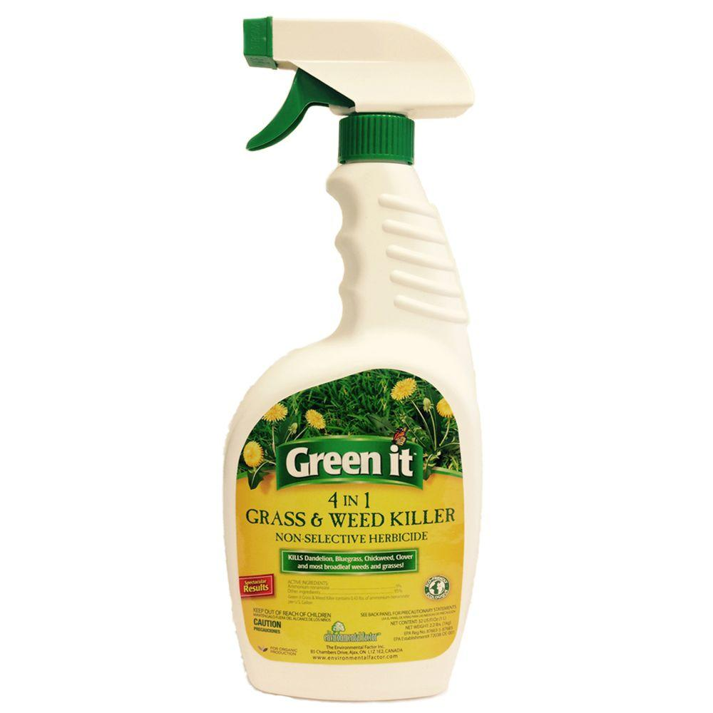 Green it 32 oz ready to use grass and weed killer efi275 for Green products for the home