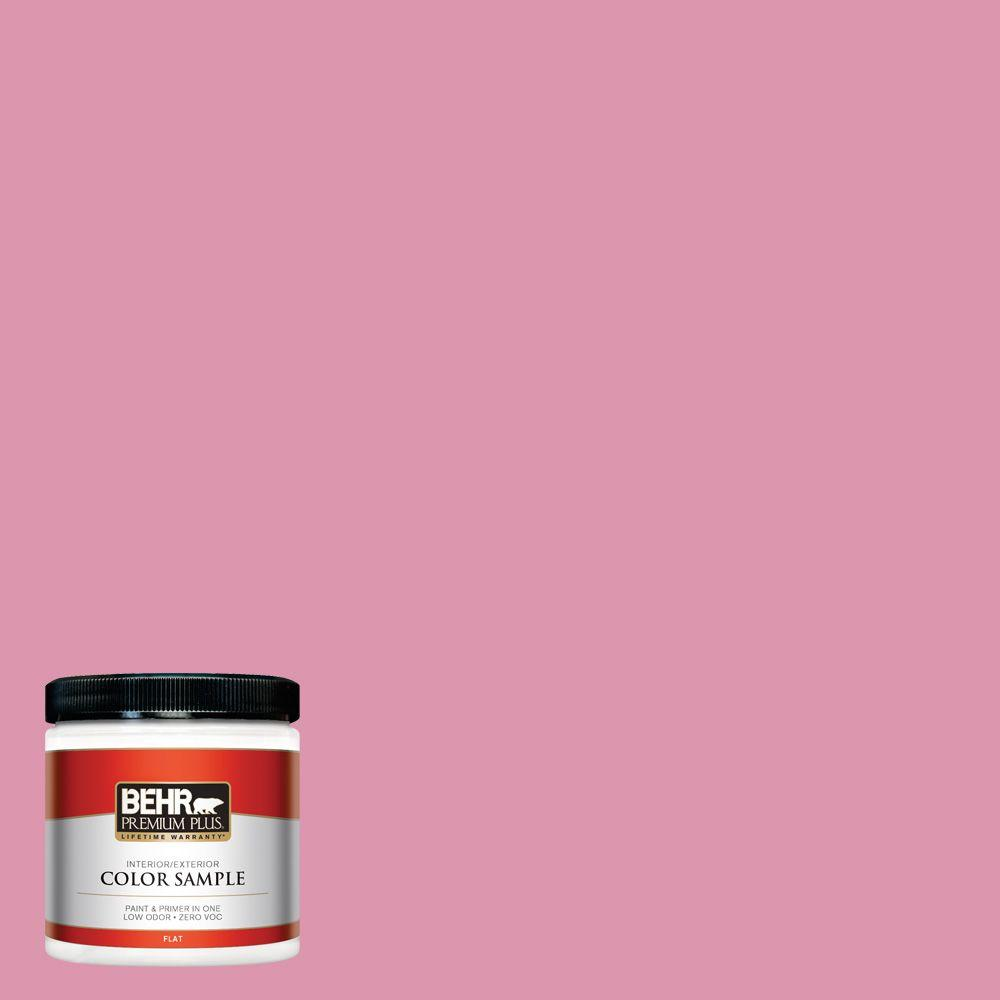BEHR Premium Plus 8 oz. #110B-4 Foxy Pink Interior/Exterior Paint Sample