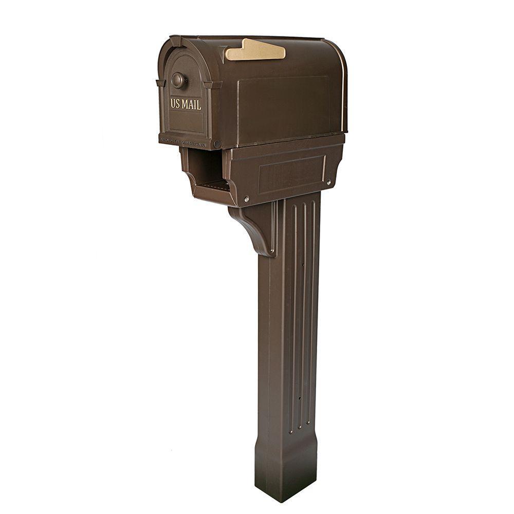 Hampton Mailbox Post Kit Durable Rust Weather Vandal Proof Polypropylene New