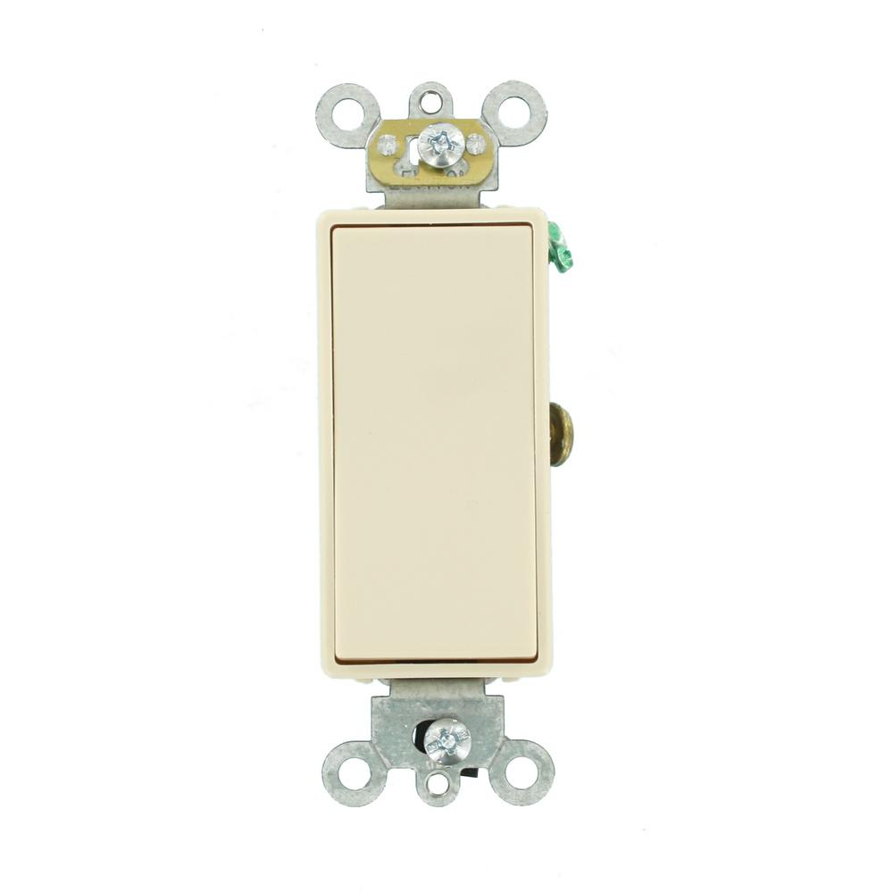 Decora 15 Amp Single Pole AC Quiet Switch, Light Almond