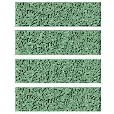 Light Green 8.5 in. x 30 in. Boxwood Stair Tread Cover (Set of 4)