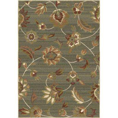 Garden Story Blue Floral 5 ft. 3 in. x 7 ft. 6 in. Indoor Area Rug