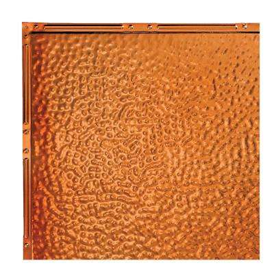Chicago Copper 12 in. x 12 in. Nail-Up Ceiling Tile Sample