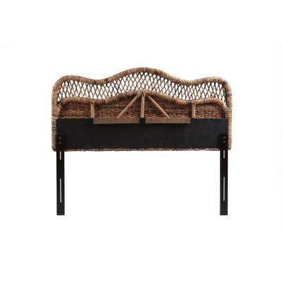 Tomini Handwoven Banana Leaf Brown Queen Headboard