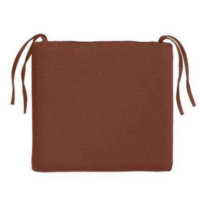 Sunbrella Henna Square Outdoor Seat Cushion