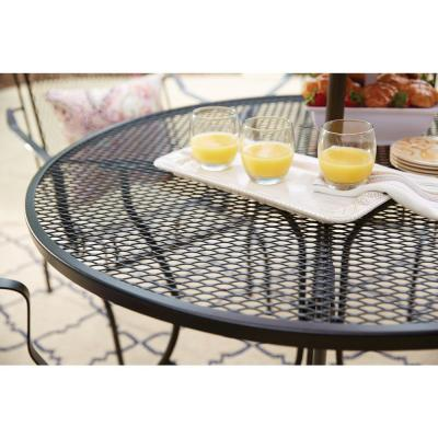 Nantucket Round Metal Outdoor Patio Dining Table