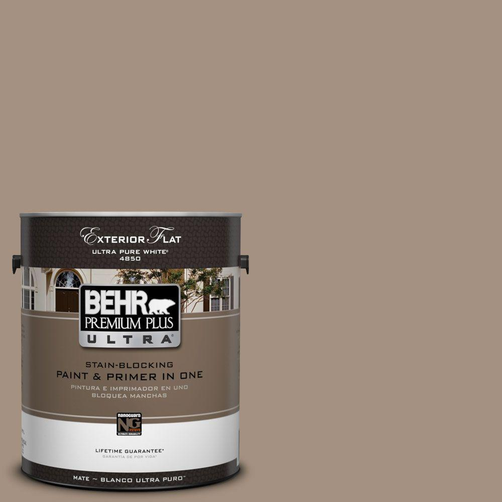 BEHR Premium Plus Ultra 1-Gal. #UL160-19 Pure Earth Flat Exterior Paint