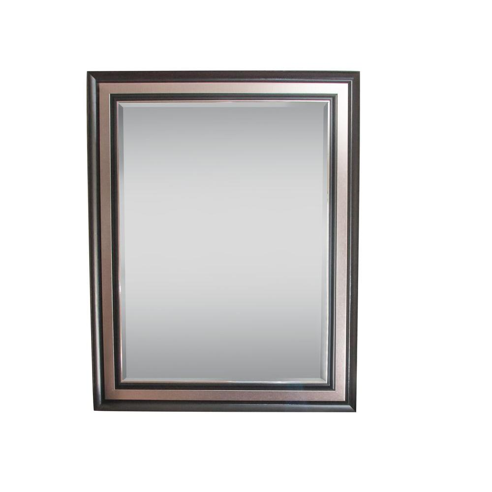 Simpli Home 49 in. x 39 in. Townsend Decorative Framed Mirror