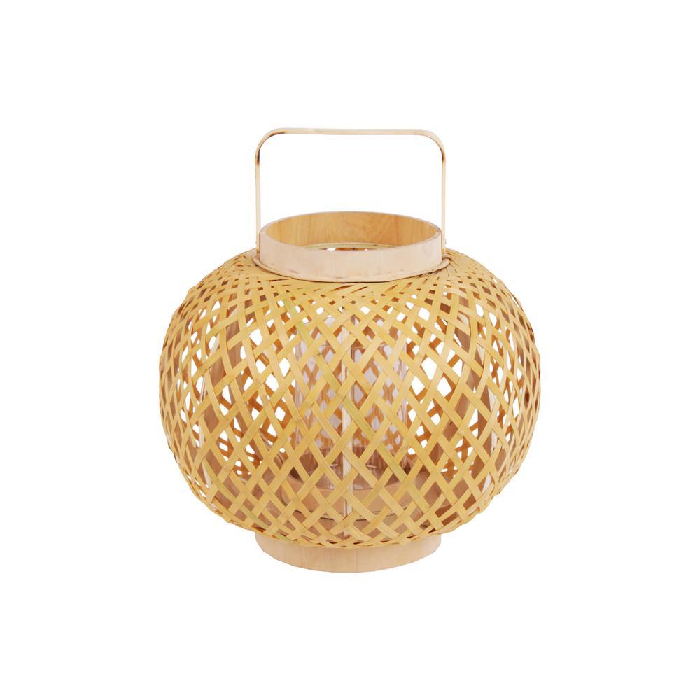 Yellow Candle Bamboo Decorative Lantern