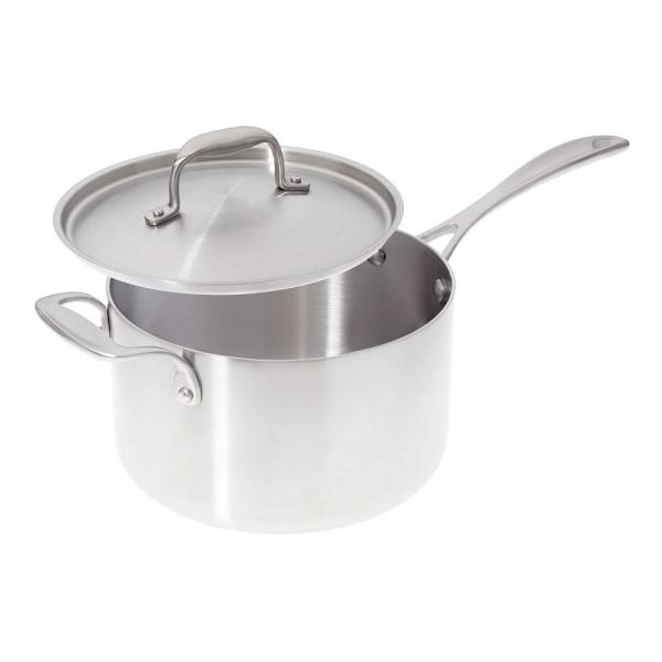 American Kitchen 4 Qt Premium Stainless Steel Sauce Pan With Cover