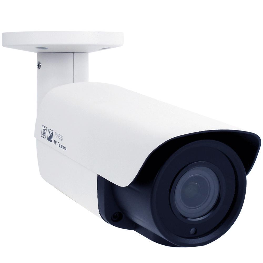 GW Security Wired 5-Megapixel PoE IP Bullet Surveillance Camera Manual Varifocal Lens Vandal Proof 130 ft. IR