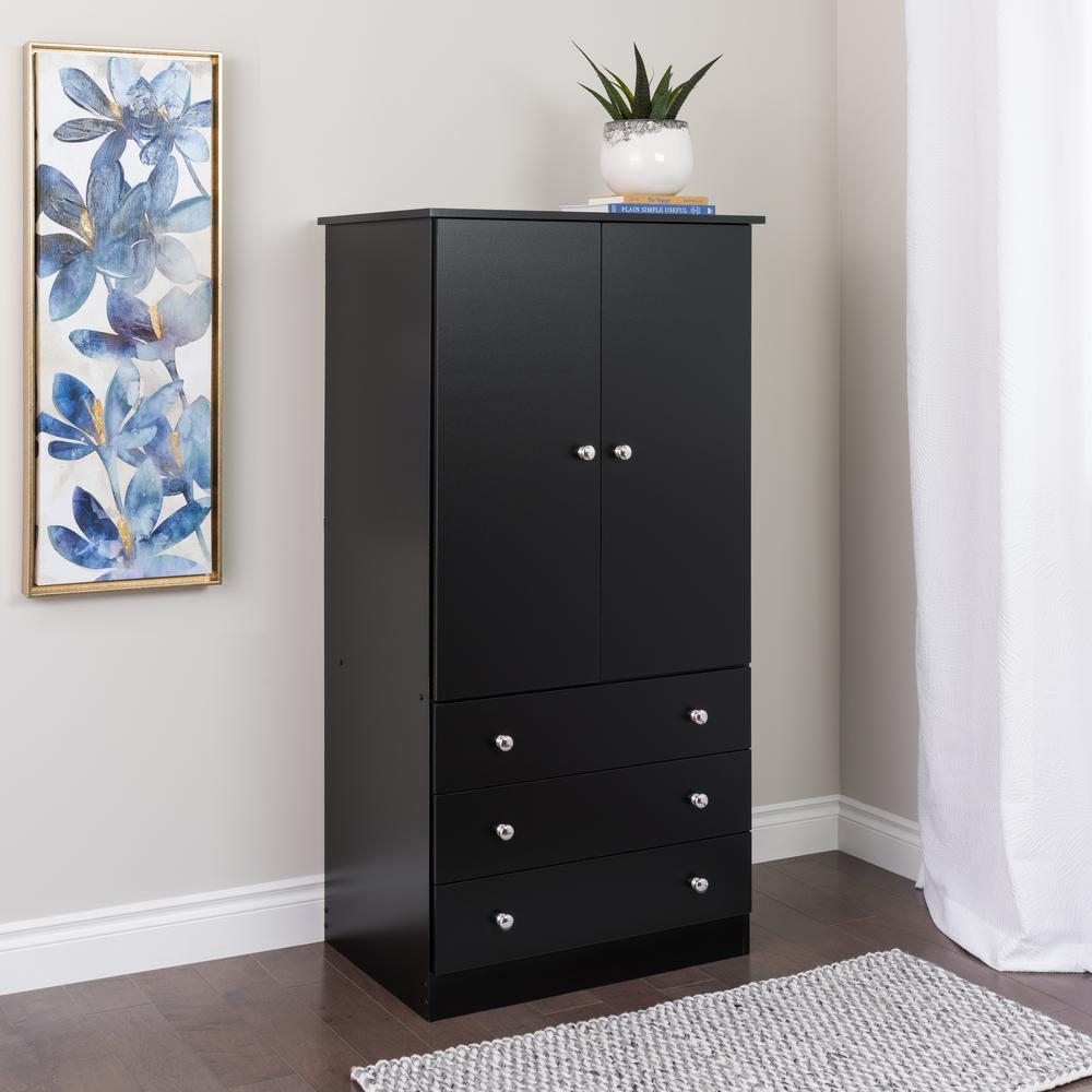 South Shore Vito Soft Gray Armoire-10234 - The Home Depot