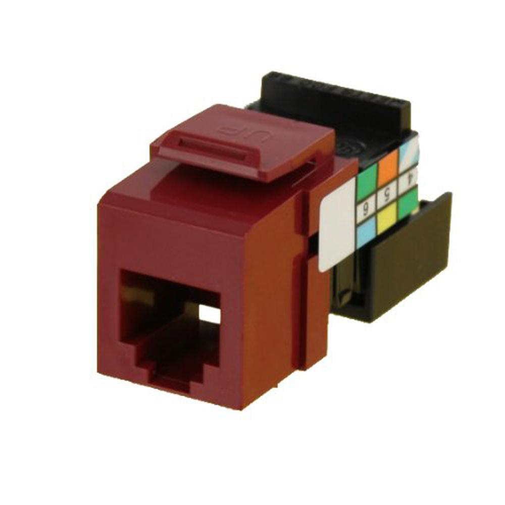 QuickPort 6P6C Voice Grade Connector, Red