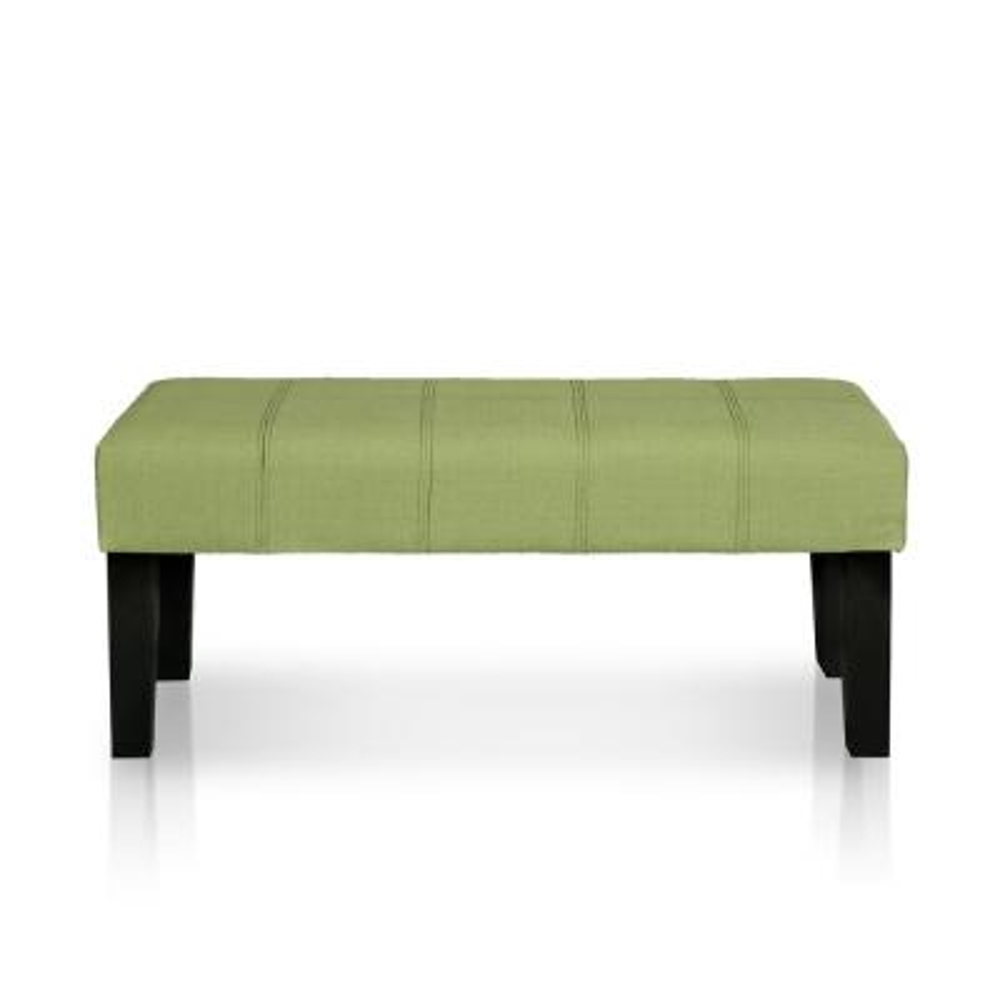 "Sandor Green Fabric Upholstered 42""L x 17""W x 18""H Bench"