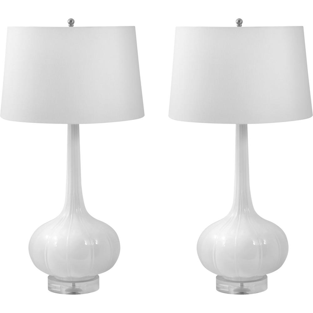 An Lighting Del Mar 32 In White Porcelain Led Table Lamp