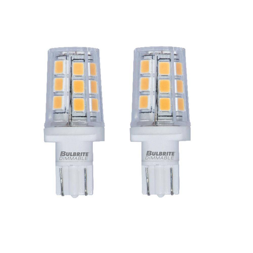 15-Watt Equivalent T3 Dimmable Wedge LED Light Bulb Soft White Light (2-Pack)