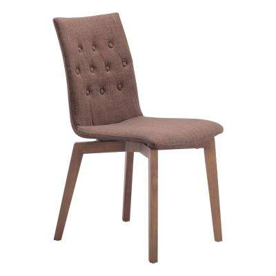 Orebro Tobacco Fabric Side Chair (Set of 2)