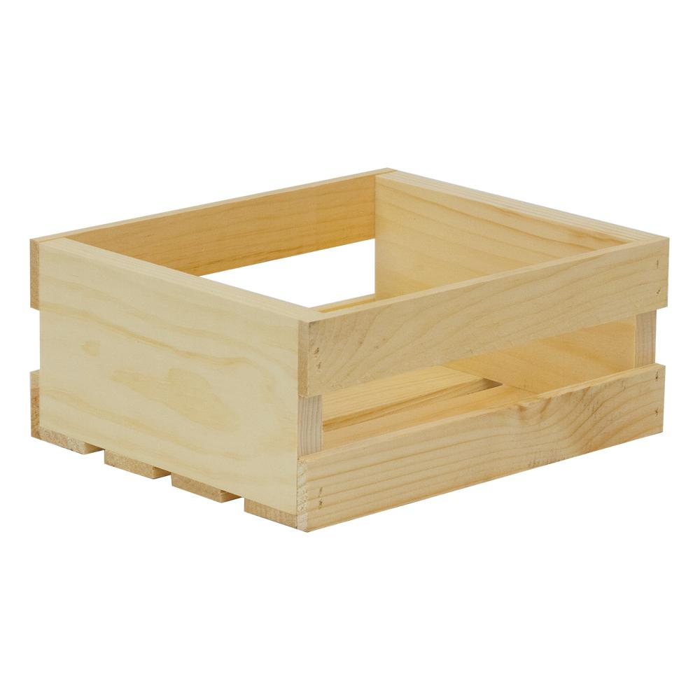 Crates & Pallet 11.75 in. x 9.5 in. x 4.75 in. Small Wood Crate