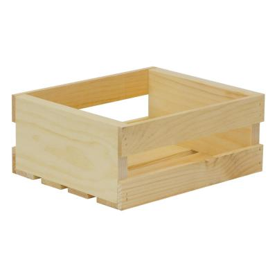 11.75 in. x 9.5 in. x 4.75 in. Small Wood Crate