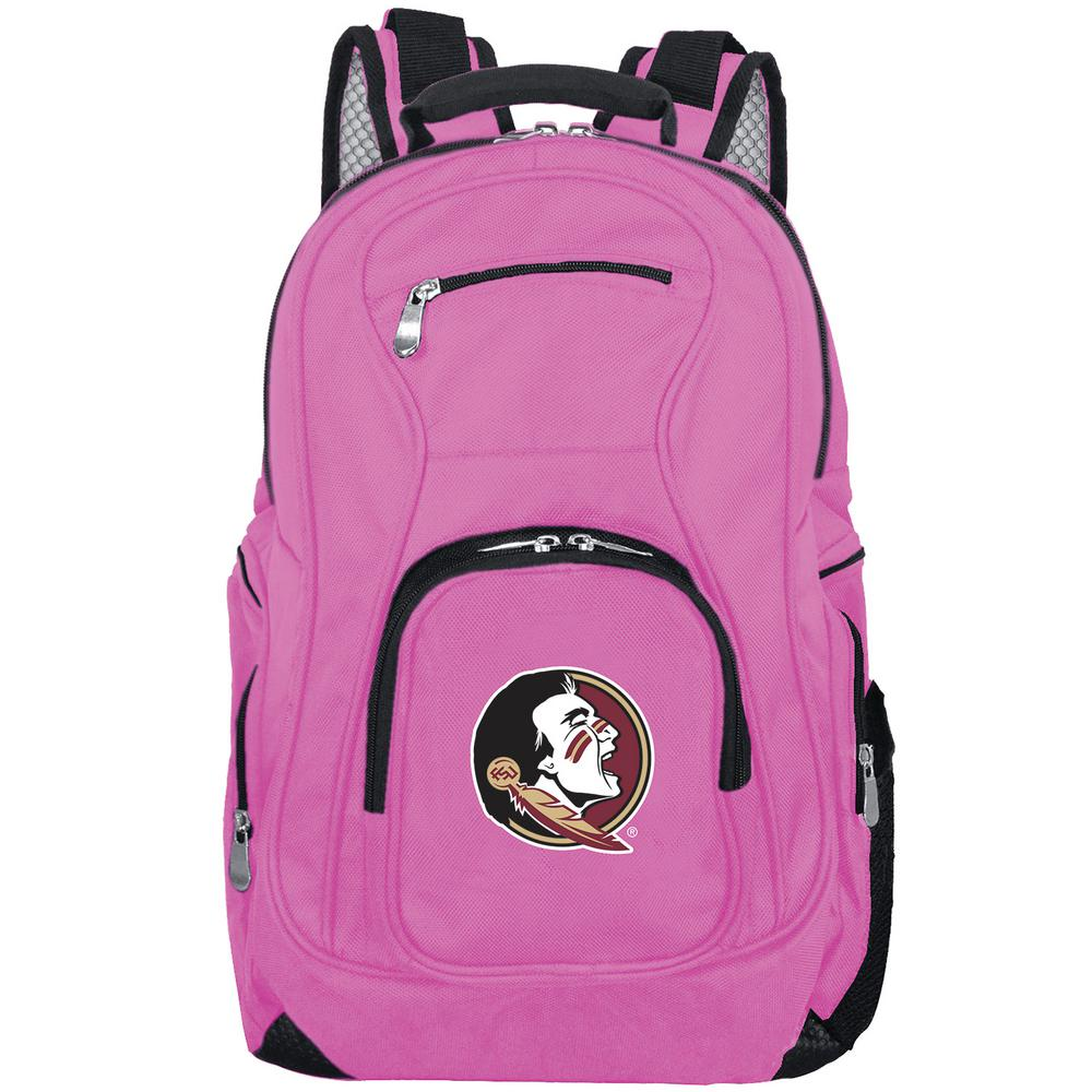 e353459ce780 Denco NCAA Florida State Seminoles 19 in. Pink Laptop Backpack ...
