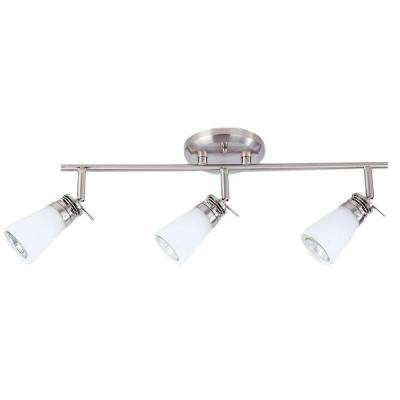 Bale Collection 3-Lights Nickel and Satin Track-Light Fixture