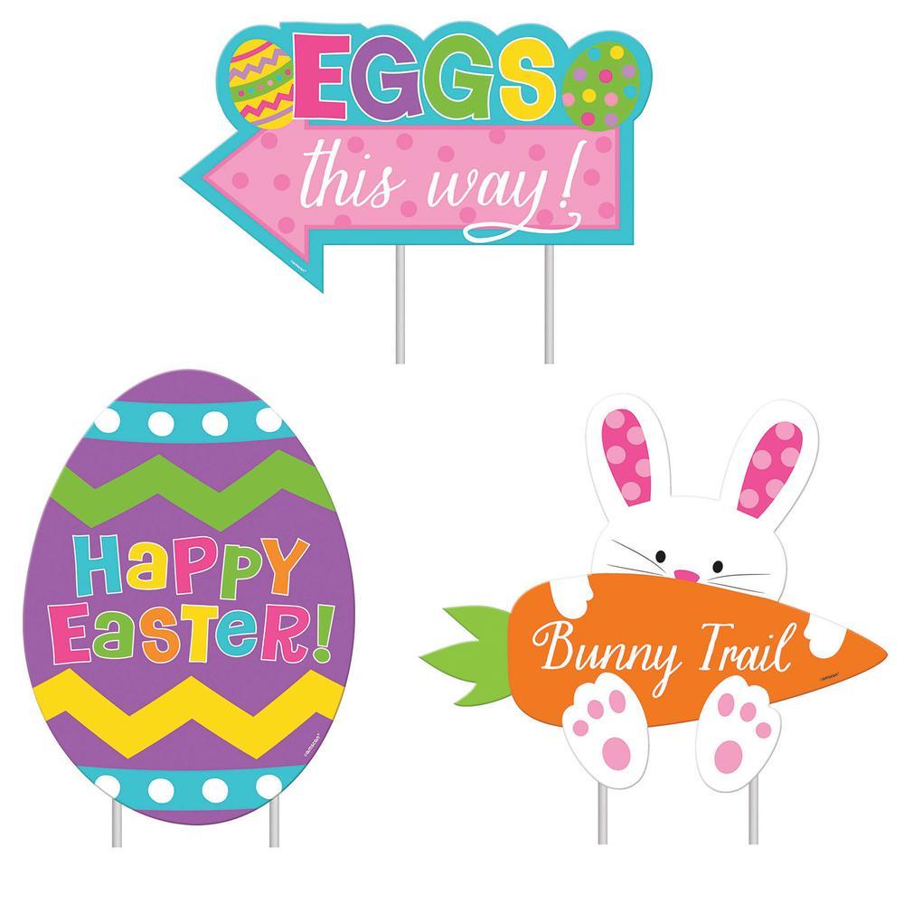 Easter Sidewalk Signs (3-Pack)
