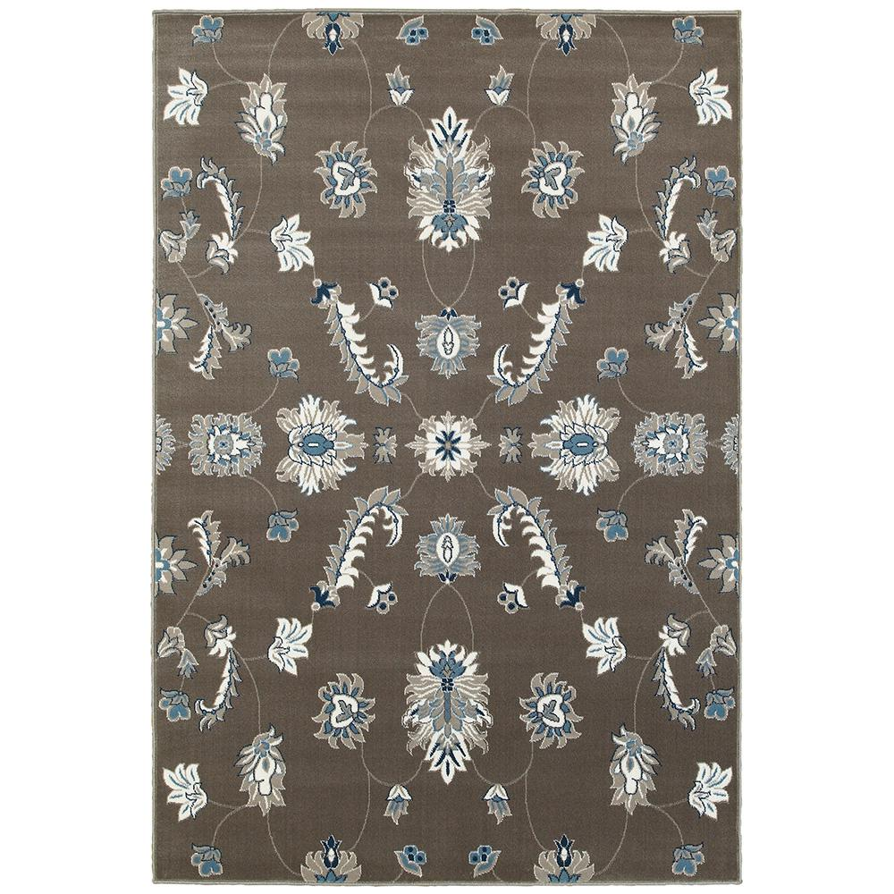 Adana Gray/Blue Rectangle 7 ft. 9 in. x 9 ft. 10