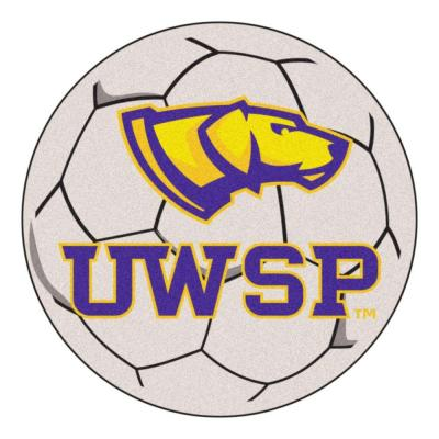 NCAA University of Wisconsin Stevens Point Cream 2 ft. x 2 ft. Round Area Rug