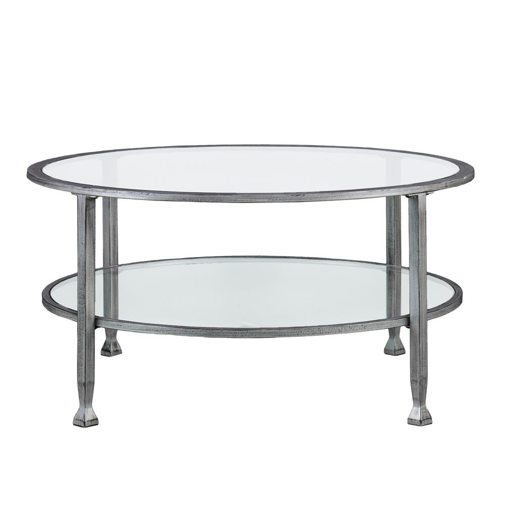 Southern Enterprises Galena Silver Round Tail Table