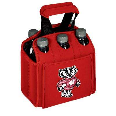 University of Wisconsin - Madison Badgers 6-Bottles Red Beverage Carrier