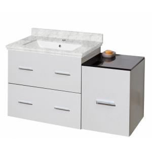 16-Gauge-Sinks 37.25 in. W x 18 in. D Bath Vanity Cabinet Only in White